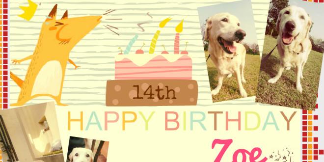 Zoe 14歲生日快樂!
